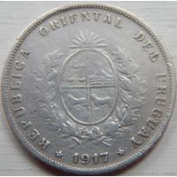30. Уругвай 50 центов 1917 год*