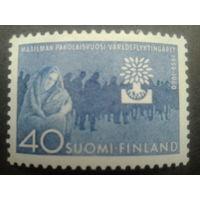 Финляндия 1960 мать с ребенком