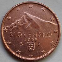 Словакия, 5 евроцентов 2009 г.
