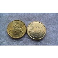 Литва 20 евроцентов 2015г. распродажа