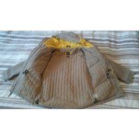 Куртка-парка бежевого цвета - рост 116