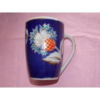 Чашка кобальт, чашка СССР.  кружка  на 600 мл. с дефектами