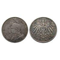 2 марки 1901 200 лет королевству Пруссия. Красивая темная патина!