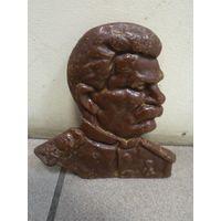Бакелитовый барельеф тов. И.В. Сталина.
