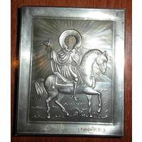 Икона в серебряном окладе Св. мученик Трифон, 84-ка, новодел