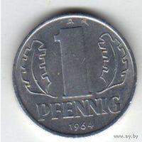 Германия (ГДР) 1 пфенниг 1964