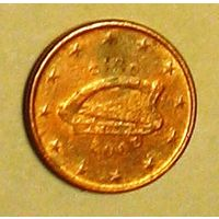 1 евроцент 2002 Ирландия