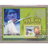 Авиация Самолеты известные люди флот Коморы  2009 год блок лист   лот 2000