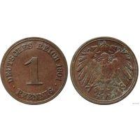 YS: Германия, Рейх, 1 пфенниг 1901F, KM# 10