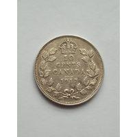 Канада 10 центов 1917 г. Георг V  серебро