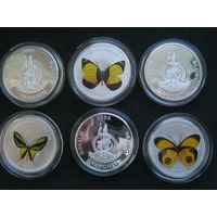 Вануату бабочки, 2006 г. (шесть монет).