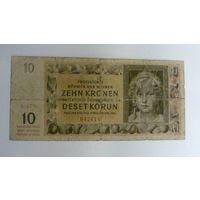 Чехословакия Богемия и Моравия 10 крон 1942 года Р1-8
