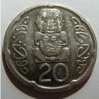 Новая Зеландия 20 центов 2006 г