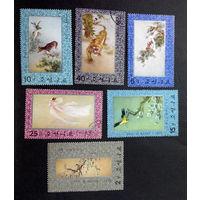 Корея 1976 г. Живопись на текстиле. Культура. Искусство, полная серия из 6 марок #0069-И1P15