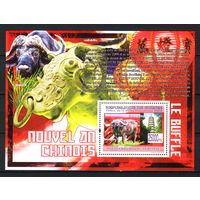 2009 Гвинея. Китайский гороскоп. Год Быка. Блок