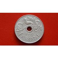 1Крона -1997- НОРВЕГИЯ -*никель