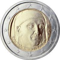 2 Евро Италия 2013 700 лет со дня рождения Джованни Боккаччо UNC из ролла