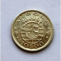 Ангола (Португальская) 10 эскудо 1955 г. AU/UNC серебро