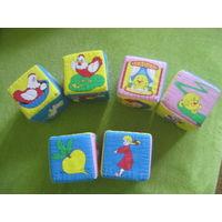 Мягкие кубики со сказками