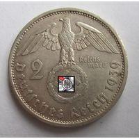 Третий рейх. 2 марки 1939 A   , серебро .9-389
