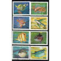Рыбы Вьетнам 1984 год серия из 8 марок