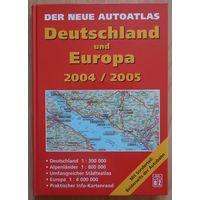 Атлас автомобильный Германия, Европа.