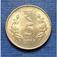 Индия 5 рупий 2016