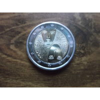Финляндия 2 евро 2007   100-ЛЕТИЕ ВВЕДЕНИЯ В ФИНЛЯНДИИ ВСЕОБЩЕГО РАВНОГО ИЗБИРАТЕЛЬНОГО ПРАВА