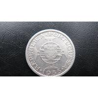 Мозамбик 10 эскудо 1955 ( серебро )