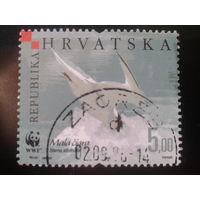 Хорватия 2006 птица ловит рыбу WWF