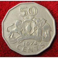 6805:  50 центов 1974 Свазиленд
