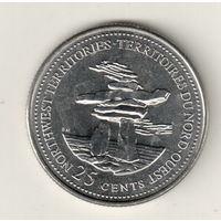Канада 25 цент 1992 Северо-Западные территории
