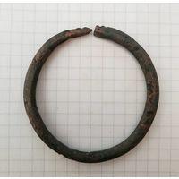 Зооморфный змеевидный браслет - бронза домонгол, с рубля без МПЦ!