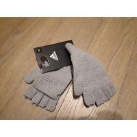 Фирменные перчатки варежки Adidas