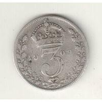 Великобритания 3 пенс 1909