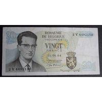 Бельгия. 20 франков 1964