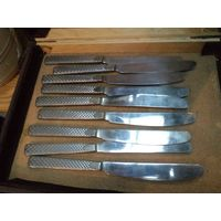 Ножи советские столовые, нержавейка, 23,5 см. Цена за один.