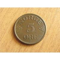 Норвегия 5 эре 1954