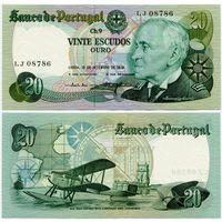 Португалия. 20 эскудо (образца 1978.09.13 года, P176a, подпись 5, UNC)