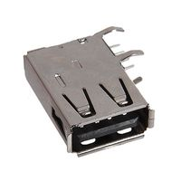 Разъем USB вертикальный 6х13х19,5мм Черный