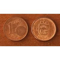 Латвия, 1 евроцент 2014