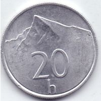 Словакия, 20 геллеров 1993 - 2002 гг.