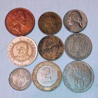 Монеты разных стран мира с рубля. 6 лот.