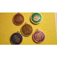 Шрек финтифлюшки подвески медальоны . Металл