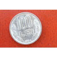 100 леев 1994 Румыния КМ# 111 никелевое покрытие