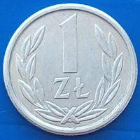 1 злотый 1989 ПОЛЬША - малый размер - 16 мм