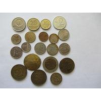 Сборка монет РФ, Литвы, Латвии, Эстонии.