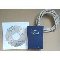 Модем - ZyXEL Omni 56K Smart + диск. Made in Taiwan.