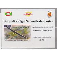Авиация  самолет блок  Бурунди  2012 год