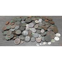 Монеты Российской империи (без боратинок) , около 400шт, с рубля